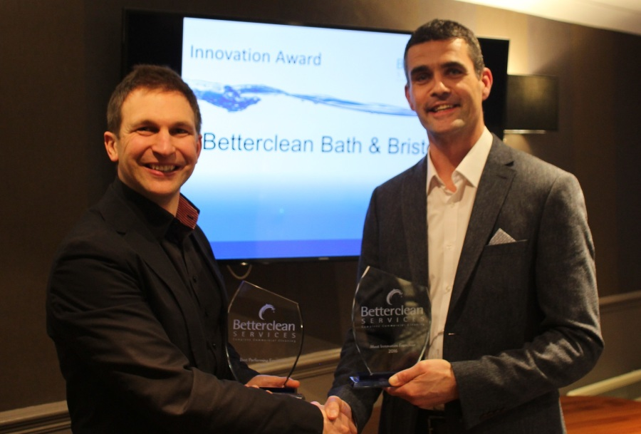 Bath + Bristol franchise owner Chris Cook receives his Innovation Award ...