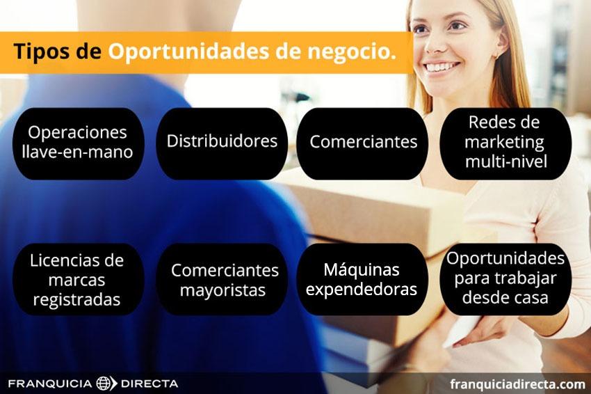 Tipos de oportunidades de negocio