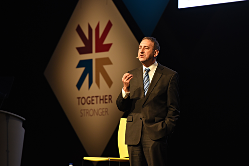 Franchise expert Greg Nathan spoke at a Home Instead conference