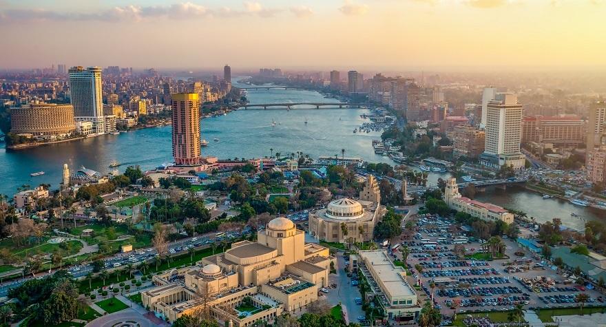 panoramic photo of Cairo, Egypt