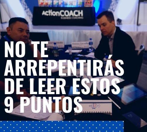 9 puntos que cambiarán tu vida según ActionCoach Iberoamérica