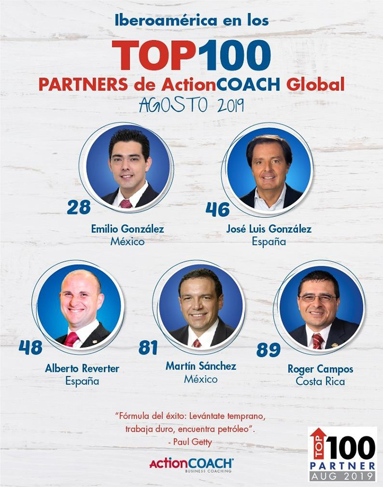 Ranking de Actioncoach Iberoamérica