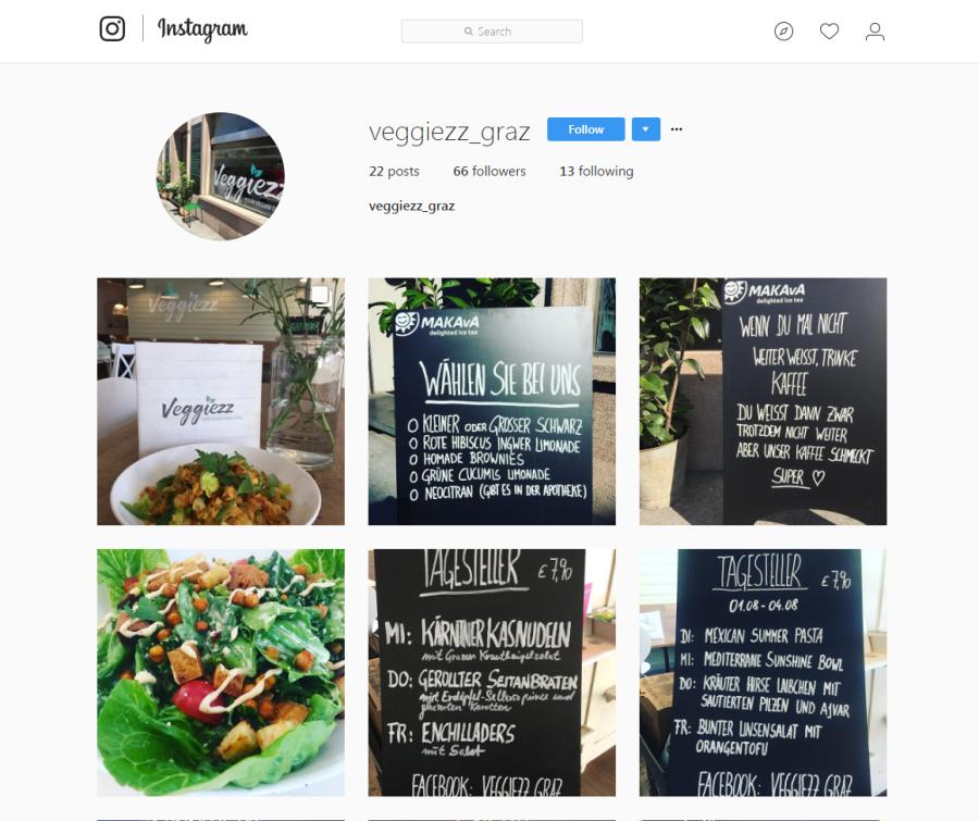 Franchise Veggiezz Instagram