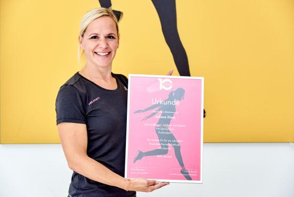 Mrs Sporty 10 Jahre Juliane Klazs
