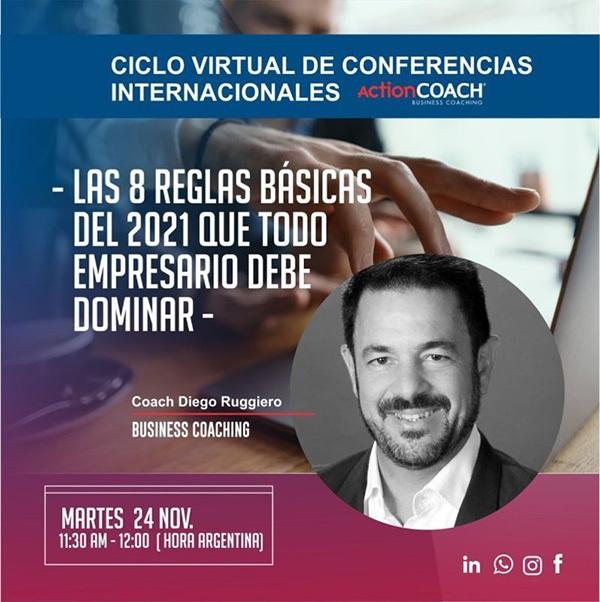 El coach Diego Ruggiero de ActionCOACH Argentina