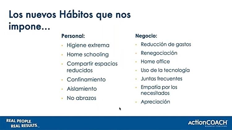 Nuevos hábitos en el confinamiento
