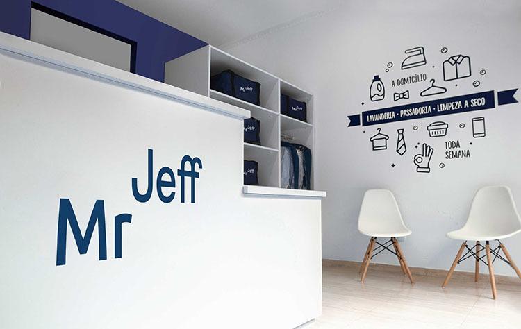 Interior franquicias de lavandería Mr Jeff