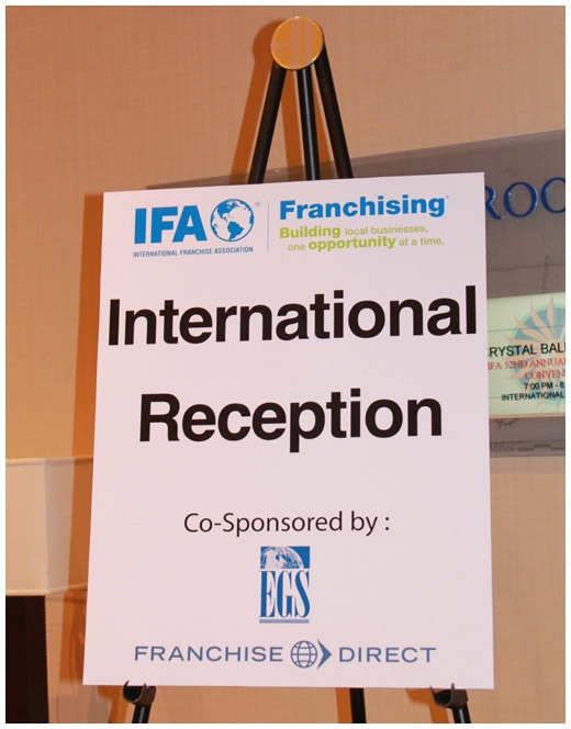 International reception sponsored by Franchise Direct