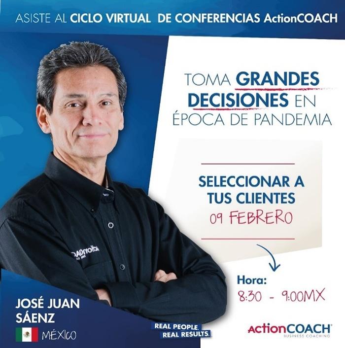 El coach José Juan Saénz de ActionCOACH México