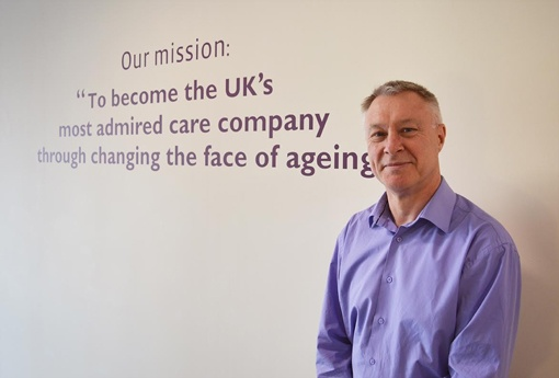 Brian Cresswell with Home Instead Senior Care's mission.