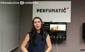 La máquina dispensadora y el negocio Perfumatic