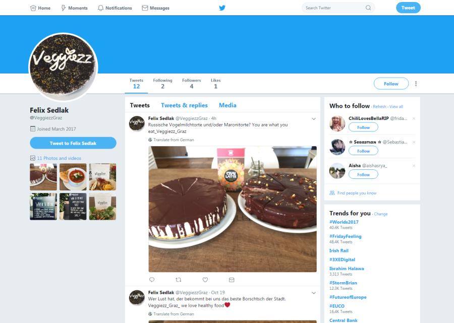 Franchise Veggiezz Twitter