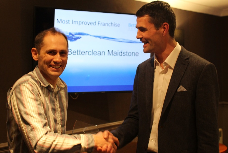 Simon Luget wins Most Improved Franchise for his Betterclean Services Ma...