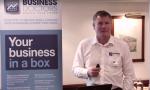 Man speaking at Business Doctors meeting